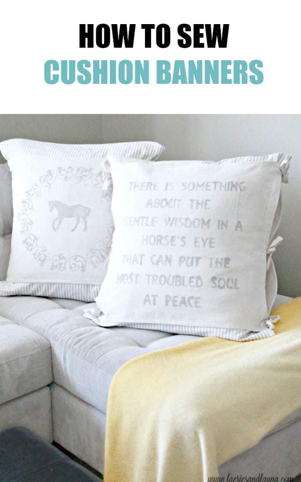 How to Sew a Cushion Banner Collage
