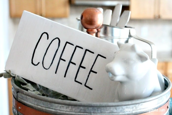 DIY Coffee Sign for a Coffee Bar