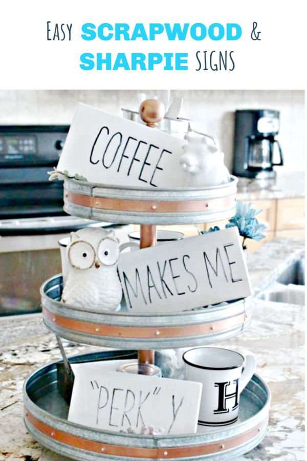 Simple farmhouse signs forr the coffee bar