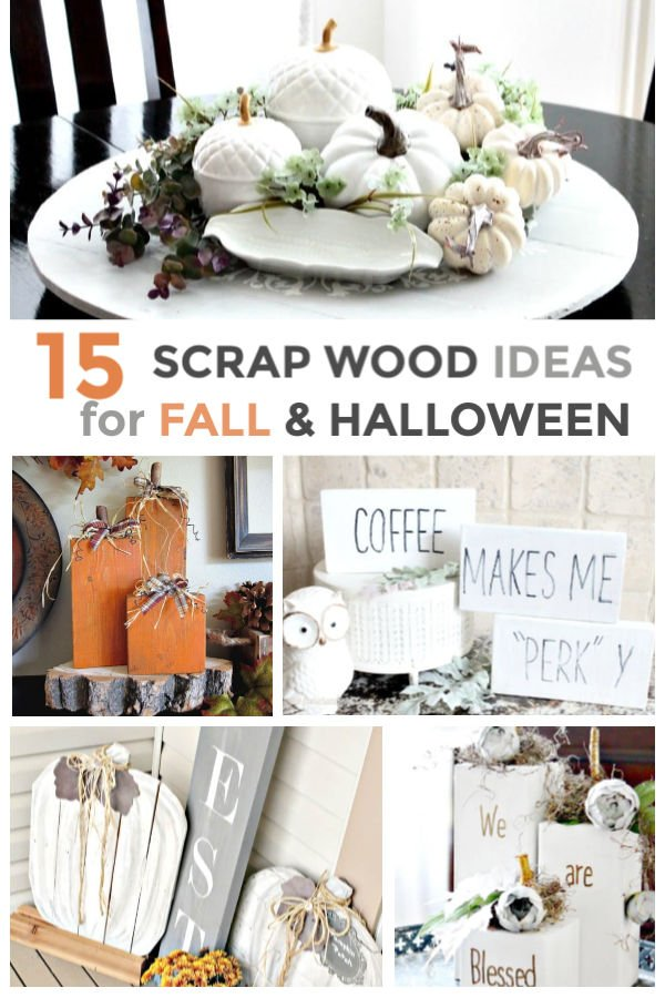 A collection of scrap wood ideas for fall and halloween