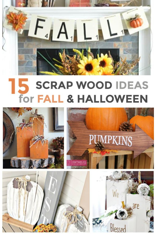 Easy scrap wood craft tutorials for Fall and Halloween