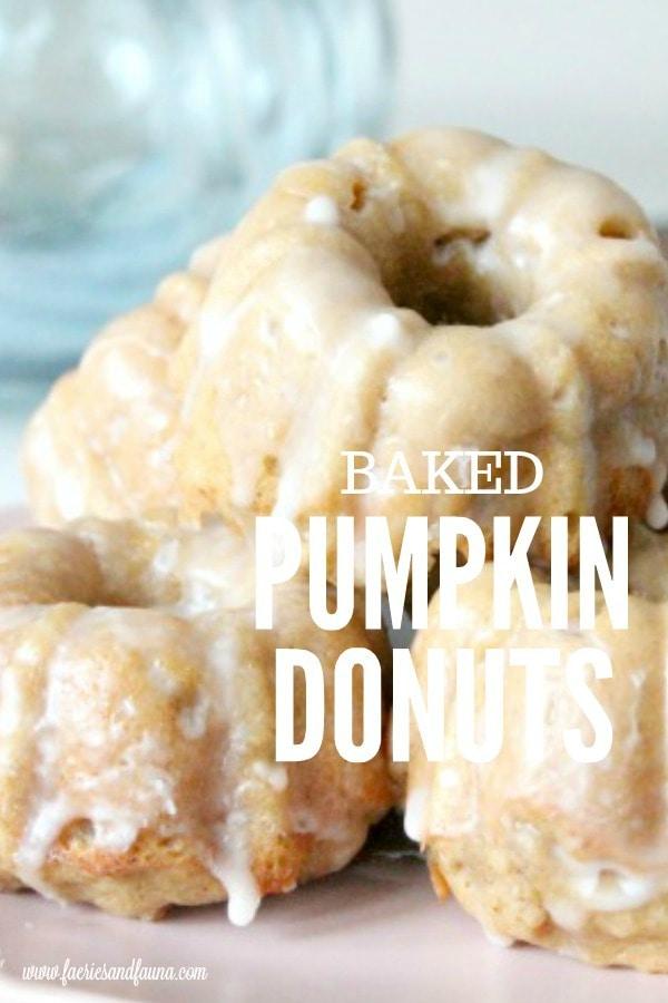 Baked pumpkin donuts with vanilla glaze recipe