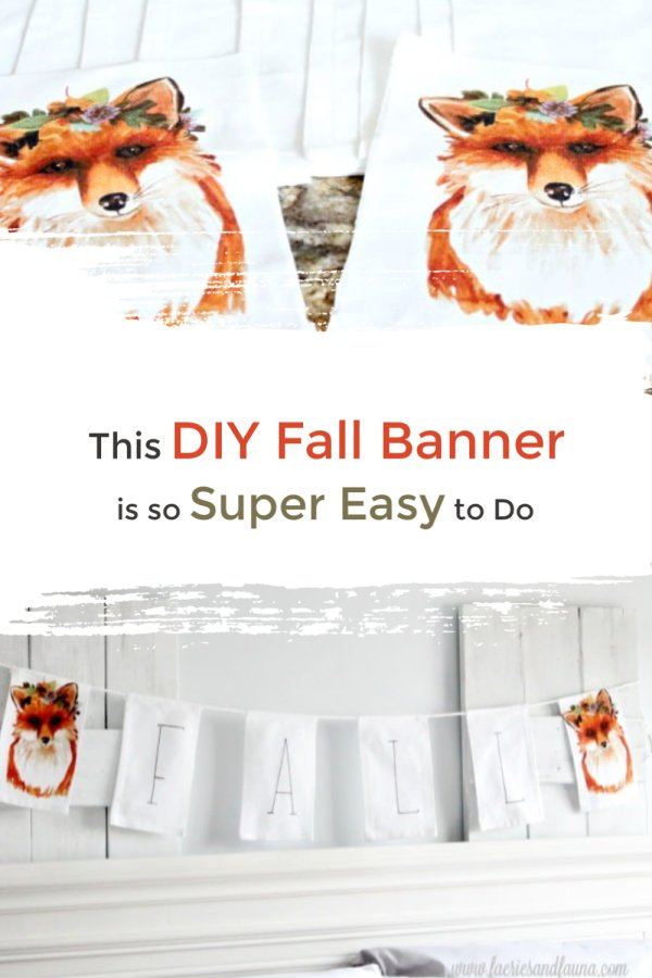 Easy to make Fabric banner for Fall