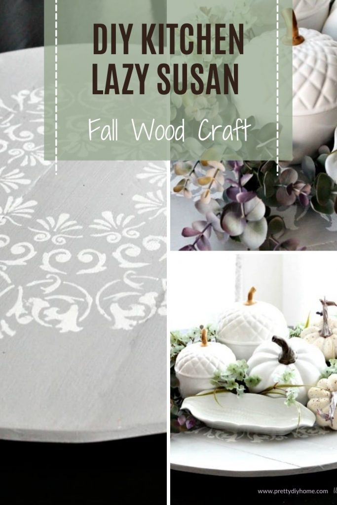A Fall wood craft project for the kitchen table using pallet wood and an ypcycled table top.