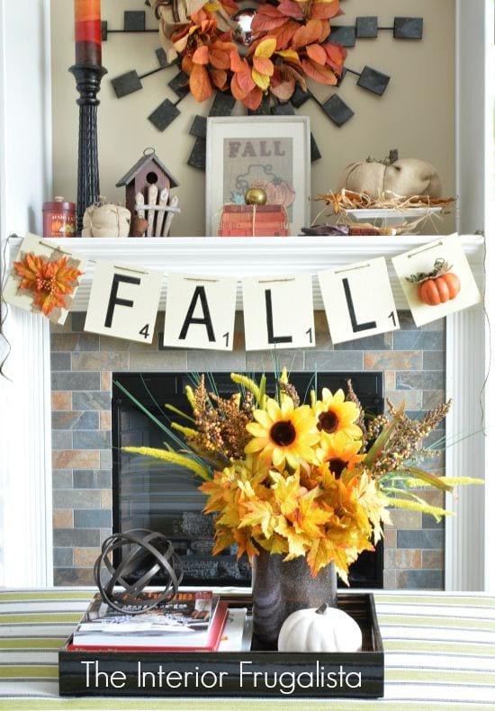 Fall DIY banner a easy wood craft idea