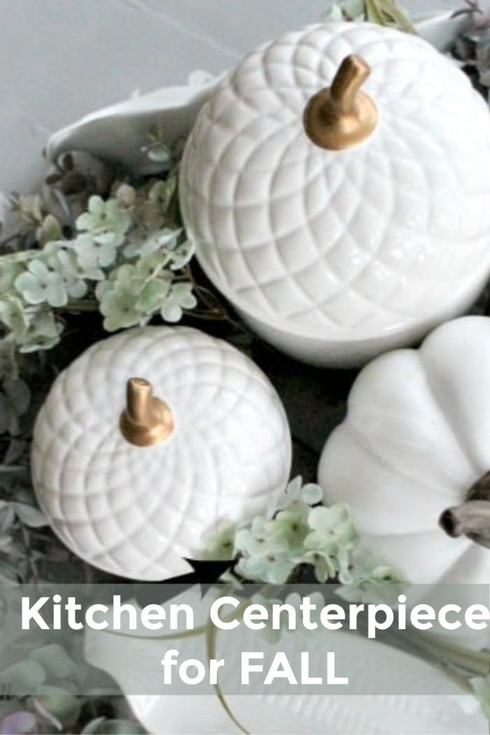 How to make a moveable fall centerpiece for the kitchen table