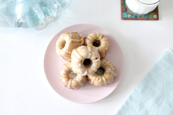 Baked pumpkin donuts.