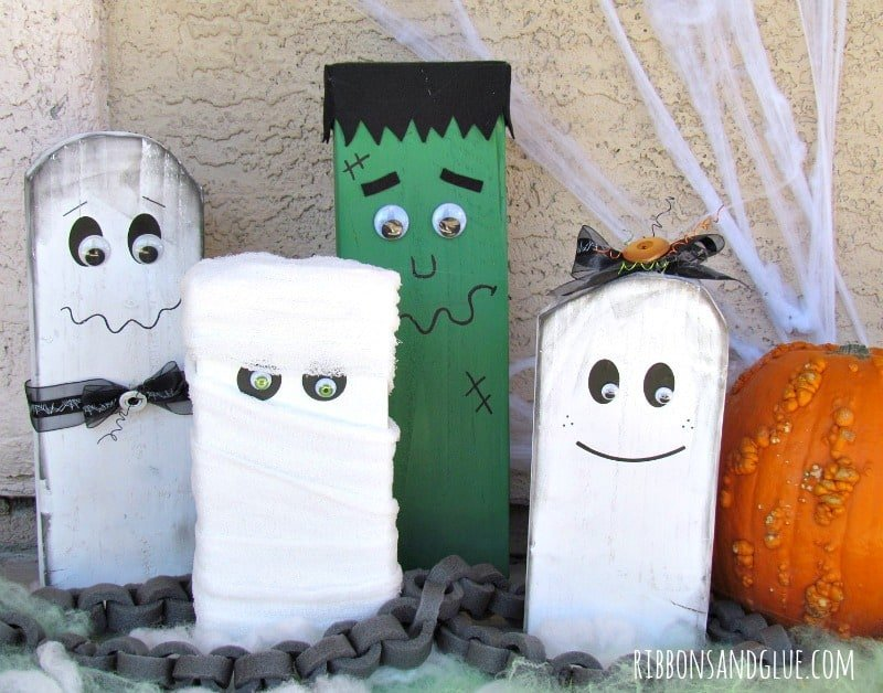 Easy To Make Fall And Halloween Wood Craft Ideas Pretty Diy Home