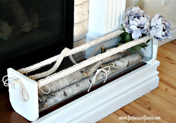 DIY wire basket, with macrame handle.