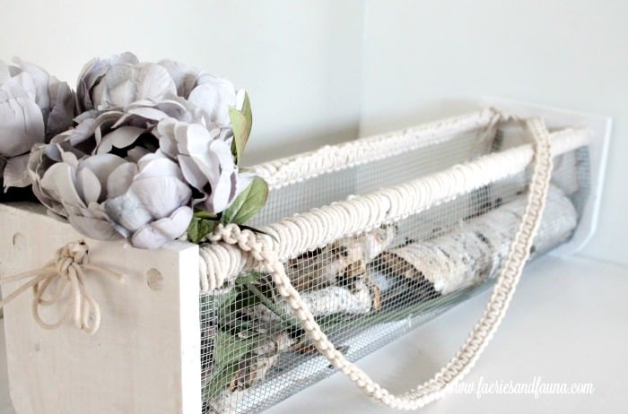 DIY wire basket for fall decorating.