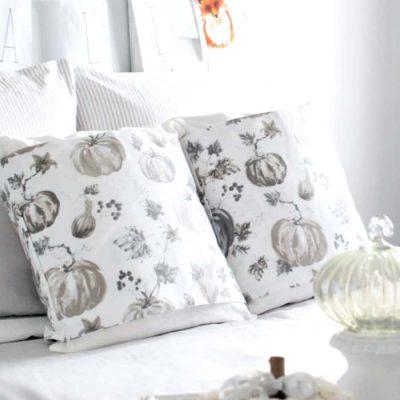 How to Make Pillow Wraps for Fall Decor