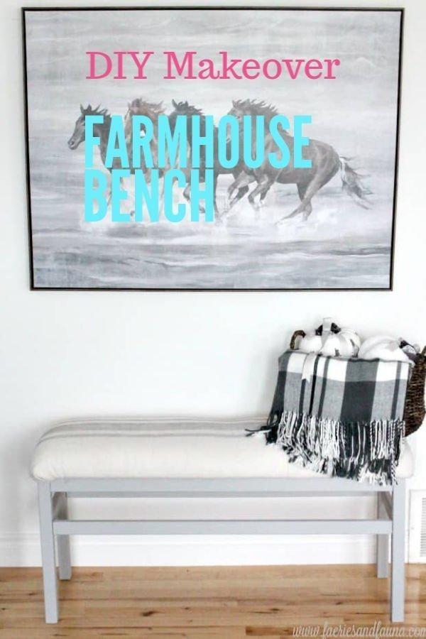 DIY Bench Makeover in a Farmhouse Style