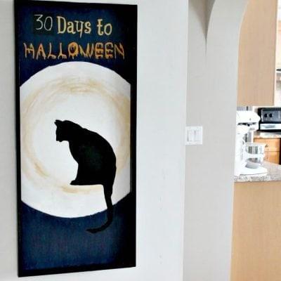 Black Cat Halloween Countdown Decor