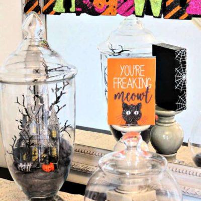 Halloween Apothecary Jars -Easy Halloween Decor