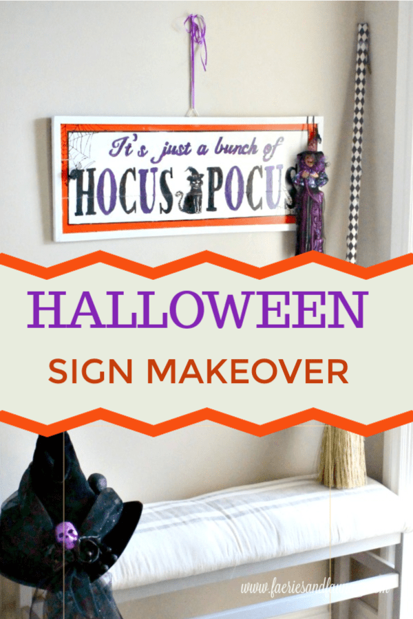 Halloween Sign Makeover