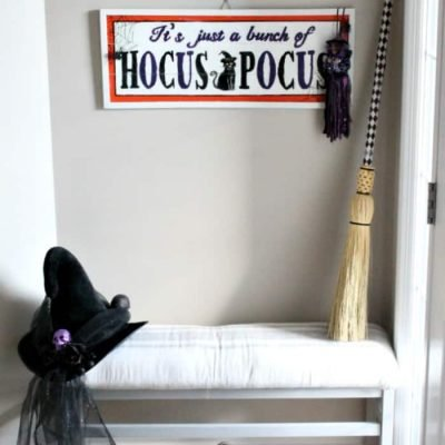 Hocus Pocus Halloween Decor Makeover