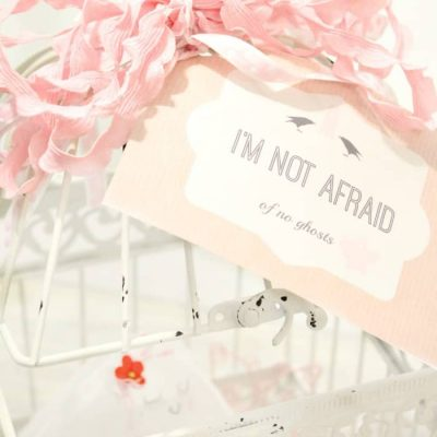 Not Scary Halloween Decoration – Pink Ghost & Printable