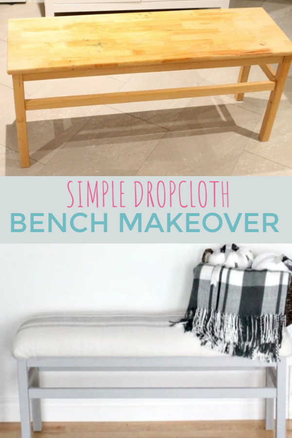 Inexpensive Bench Makeover