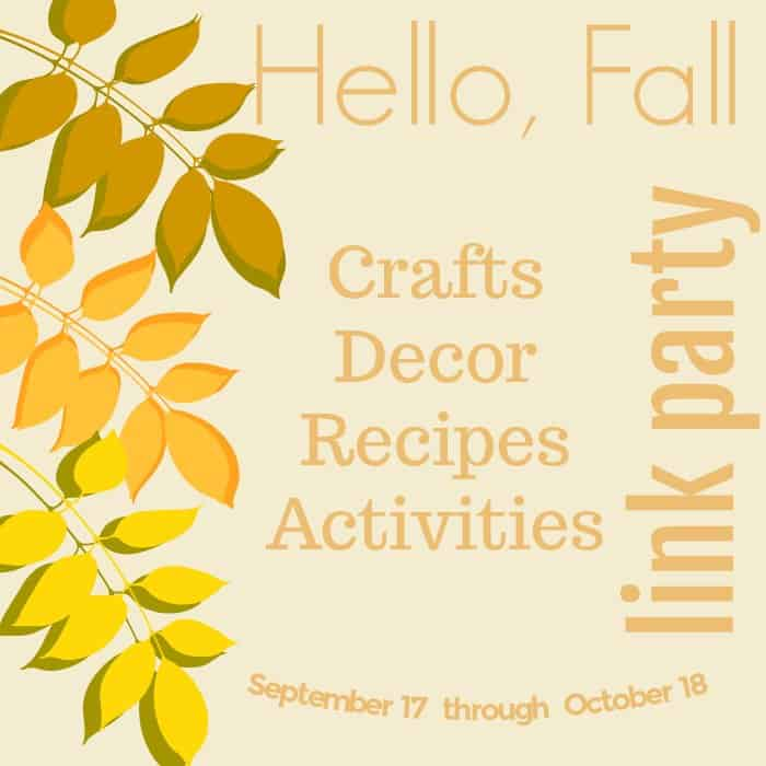 Hello Fall Link Party Graphic for my DIY pumpkin craft for fall.