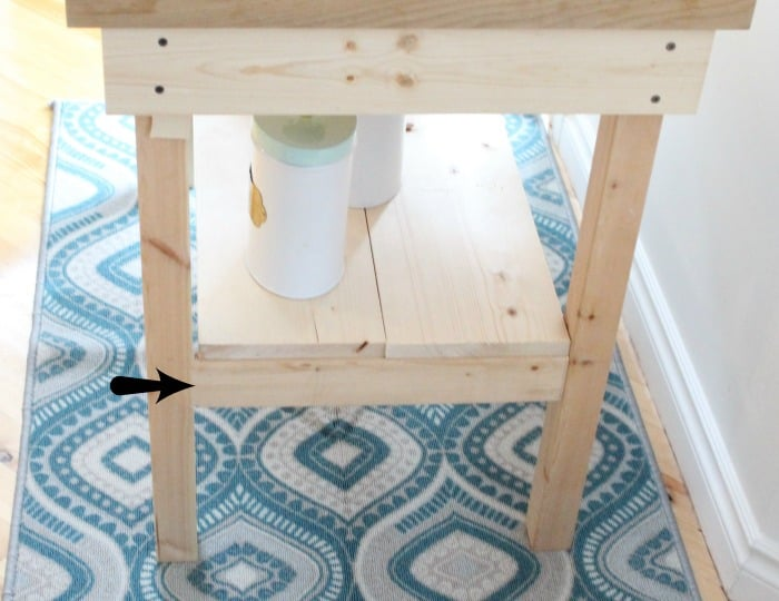 How to add a leg bracket to a DIY Coffee Station cart