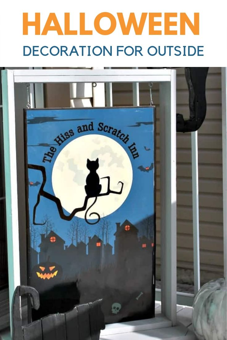 Halloween Decoration for the front yard, A DIY Halloween sign for the yard or front porch.