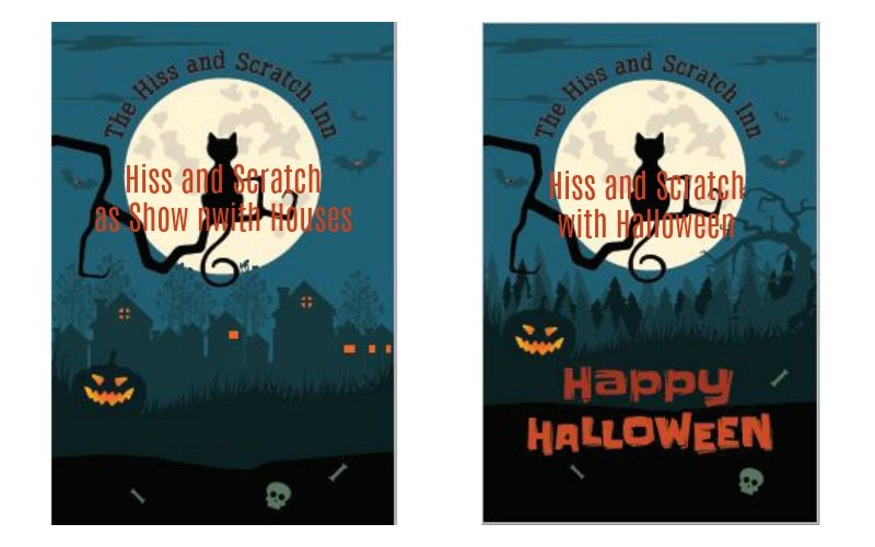 Halloween DIY Hiss and Scratch Inn free poster templates.