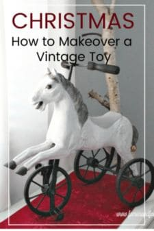 A vintage toy makeover project, repainting a horse trycicle .
