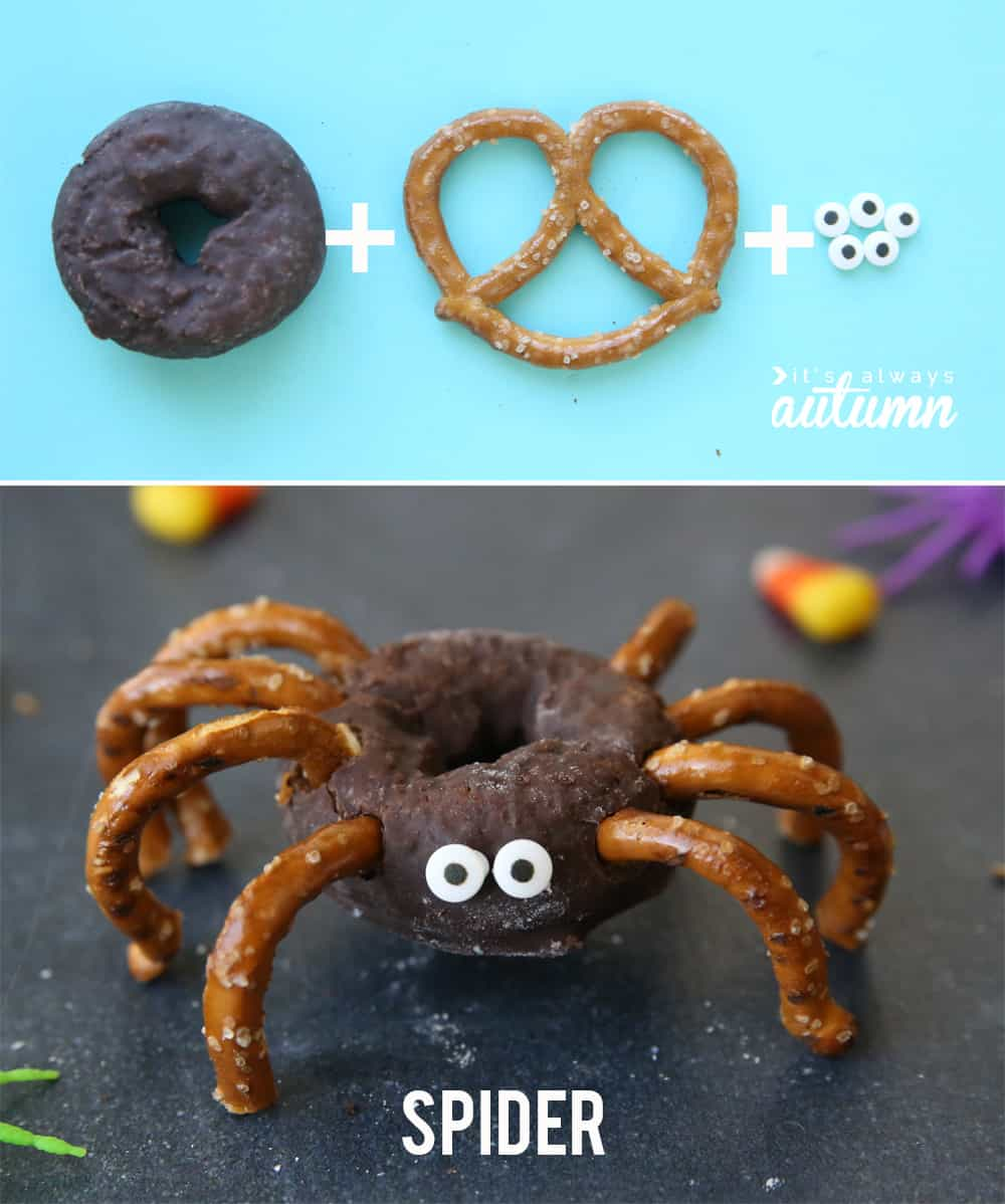 Easy Mini Donut Halloweem Treats for Kid