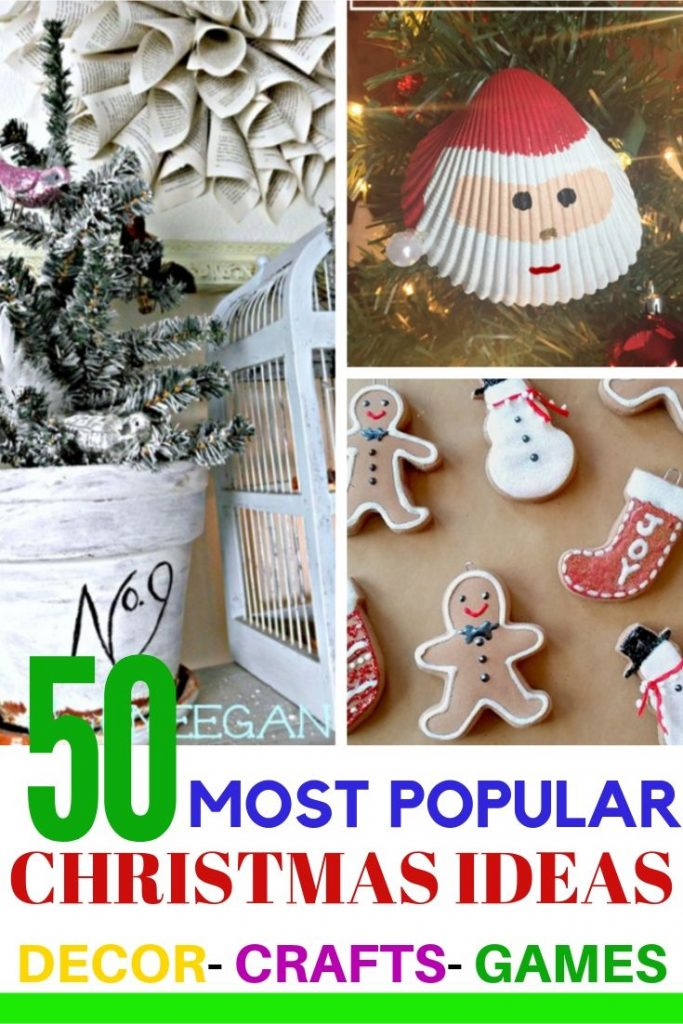 Beautiful DIY Christmas ornaments and other craft and decor ideas for the Christmas holidays.