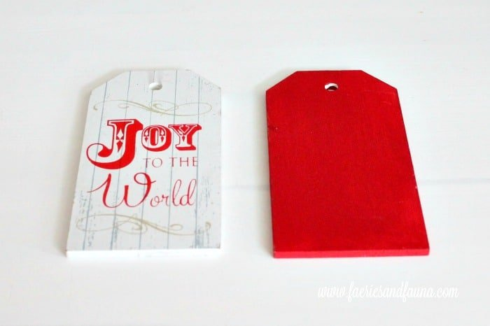 Updating a dollar store ornament into a farmhouse DIY Christmas ornament