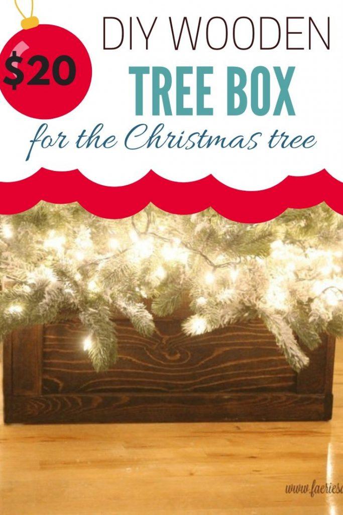 An easy wood working project for Christmas. A handmade Christmas box for around the bottom of the Christmas tree.