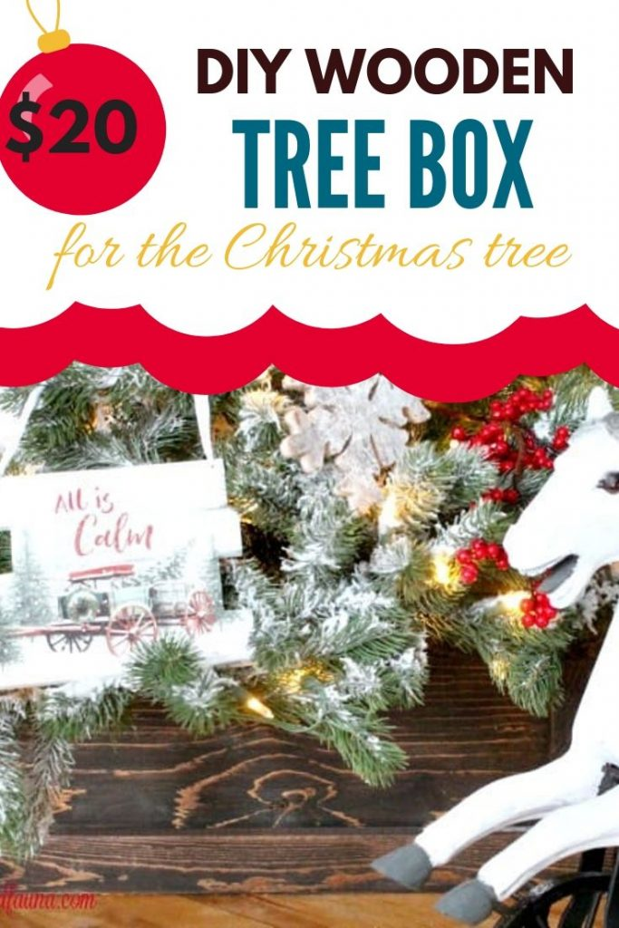 DIY Wooden Tree Box for the Christmas Tree decor.