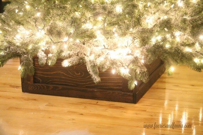 Beautiful one of a kind Christmas tree stand.