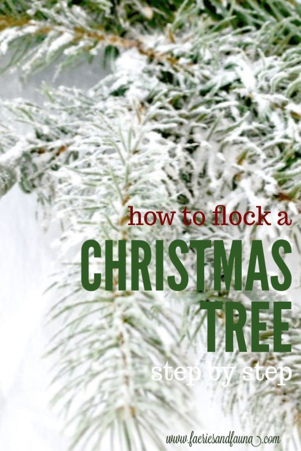 How to flock a Christmas tree at home, a DIY flocked tree branch.