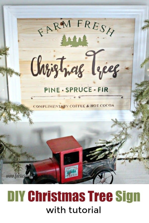 DIY Christmas tree sign and tutorial