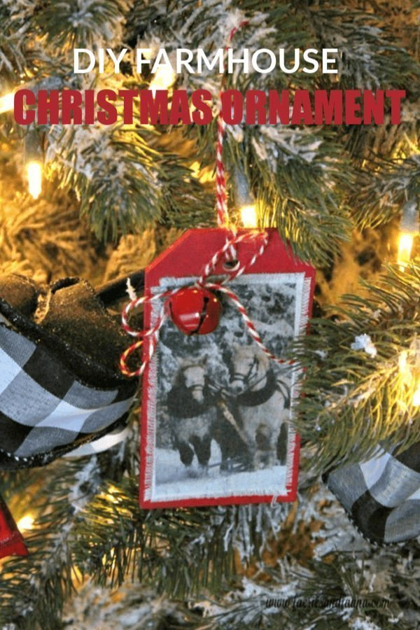 One of a kind beautiful DIY Christmas ornament with sleigh and horses.