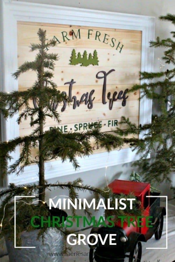 Minimalist Christmas Tree Grove