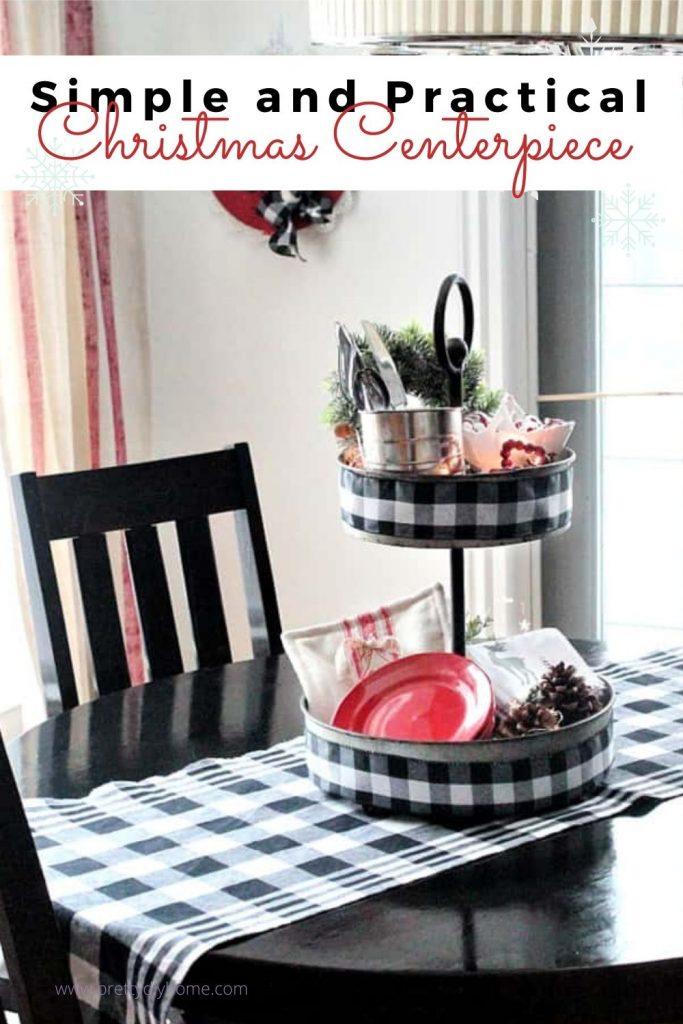 Diy Christmas Centerpiece For A Kitchen Table