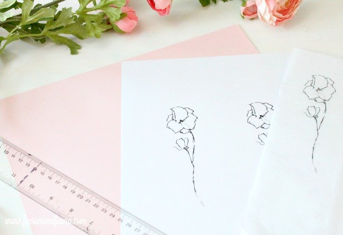 The paper templates and card stock for making handmade bookmarks