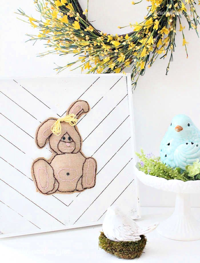 A Easter craft Easter Bunny Sign