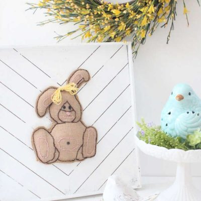 Easter Crafts for Adults Burlap Bunny Artwork