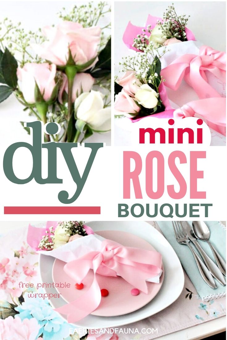 A small Valentine rose bouquet bundle that can be used for Galentines table settings.