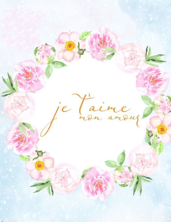 A French Valentine's printable that say Je T'aime mon amour
