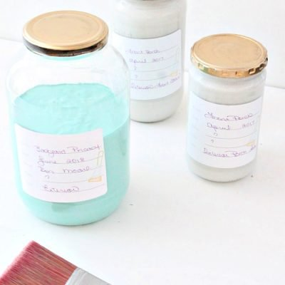 How to Organize and Store Paint with Free Printable Paint Labels