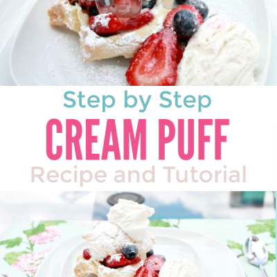 Step by Step Cream Puffs with Berries Recipe
