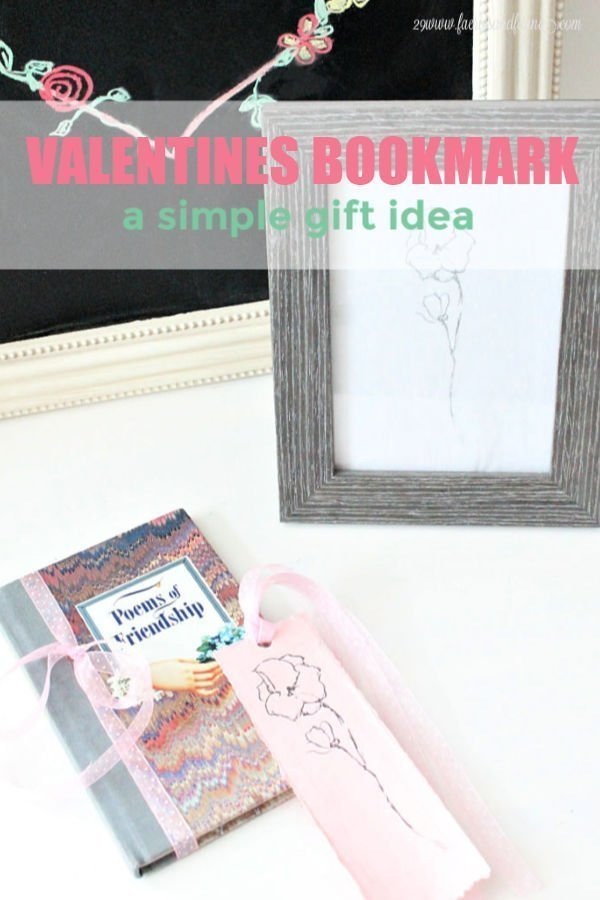 Valentines Bookmark a simple gift idea
