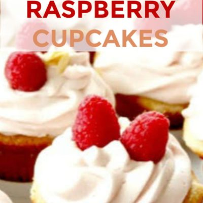 Apricot Filled Vanilla Cupcakes with Raspberry Mascarpone Icing