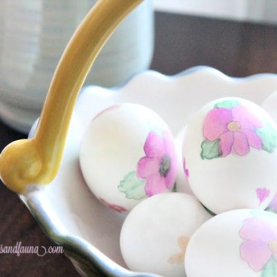 Floral Watercolour Easter Egg Painting – for those of us who don't Paint