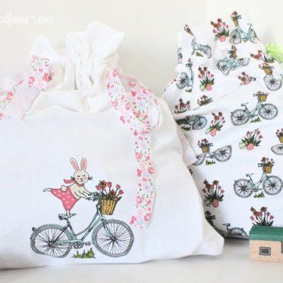 DIY Fabric Drawstring Bags Using Towels