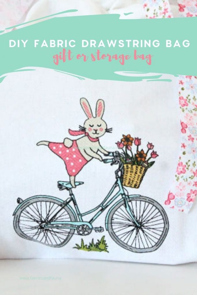A DIY fabric gift bag for Spring or Easter using tea towels.